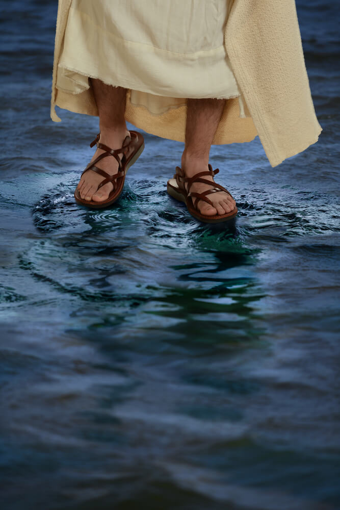 Jesus sandals - excellent footwear for staying in hostels