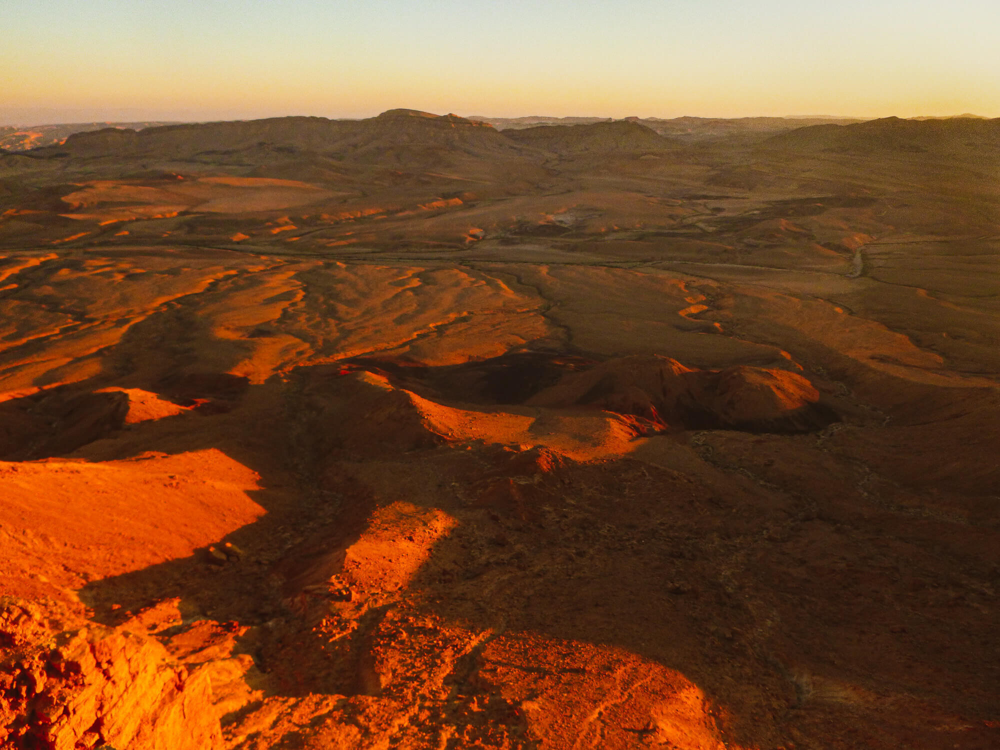 Sunset over Mitzpe Ramon Crater - things to do in southern Israel