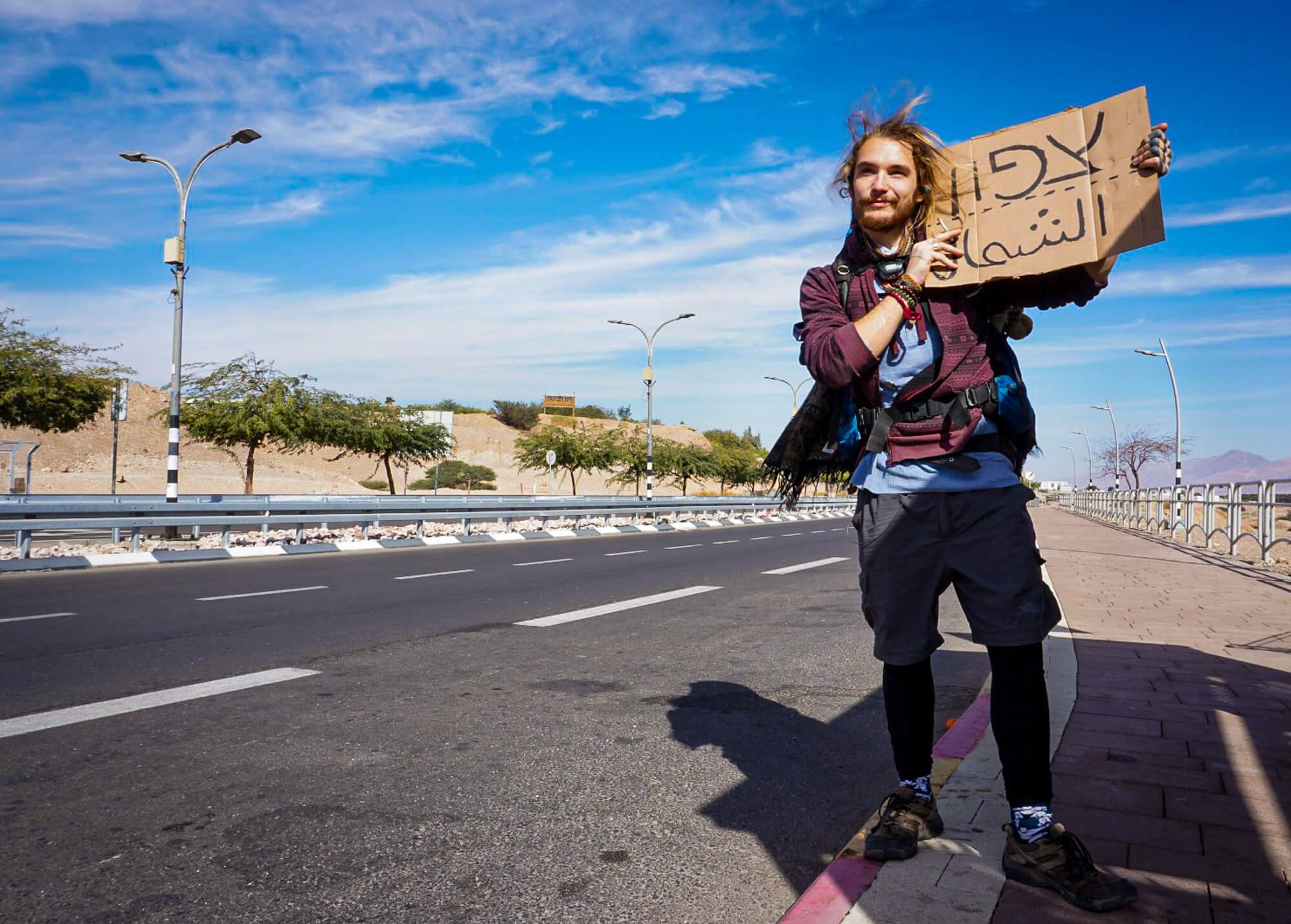 Hitchhiking - my best thing to do in Israel