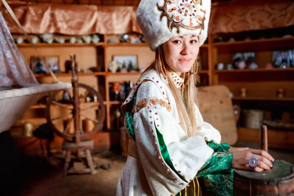 young woman in kyrgyzstan