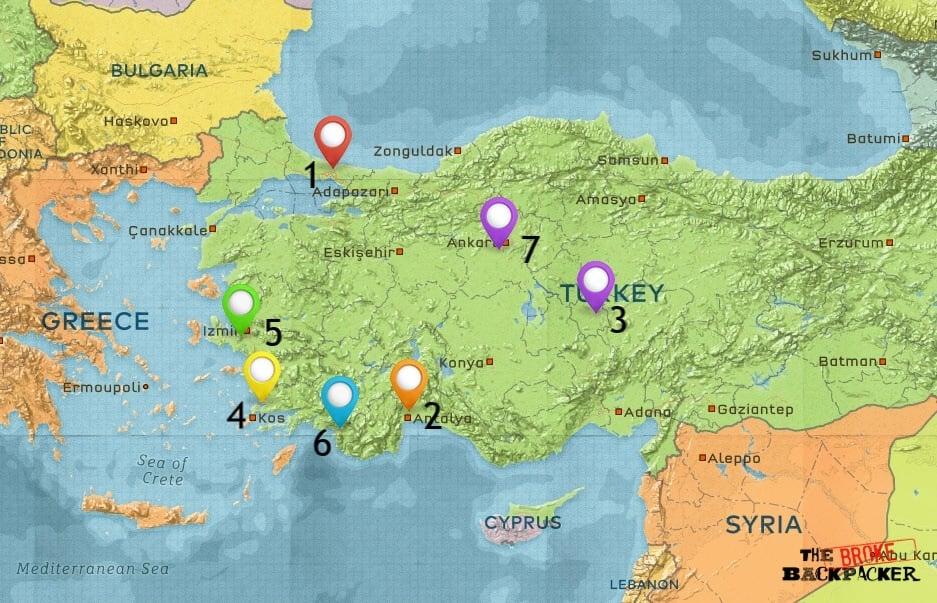 BH Turkey Map