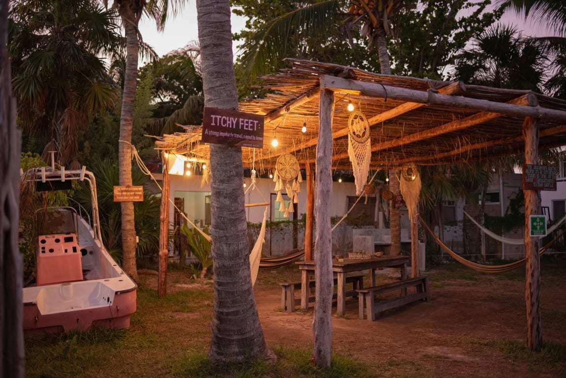 Mapache Hostel best hostel in holbox