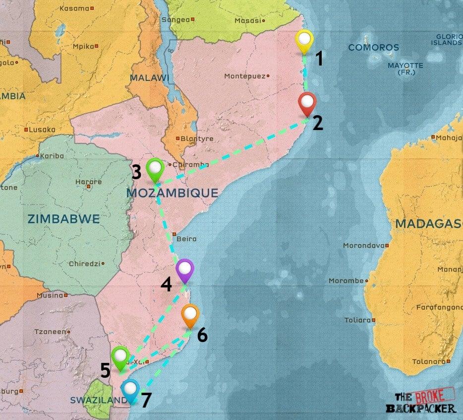 Mozambique Map