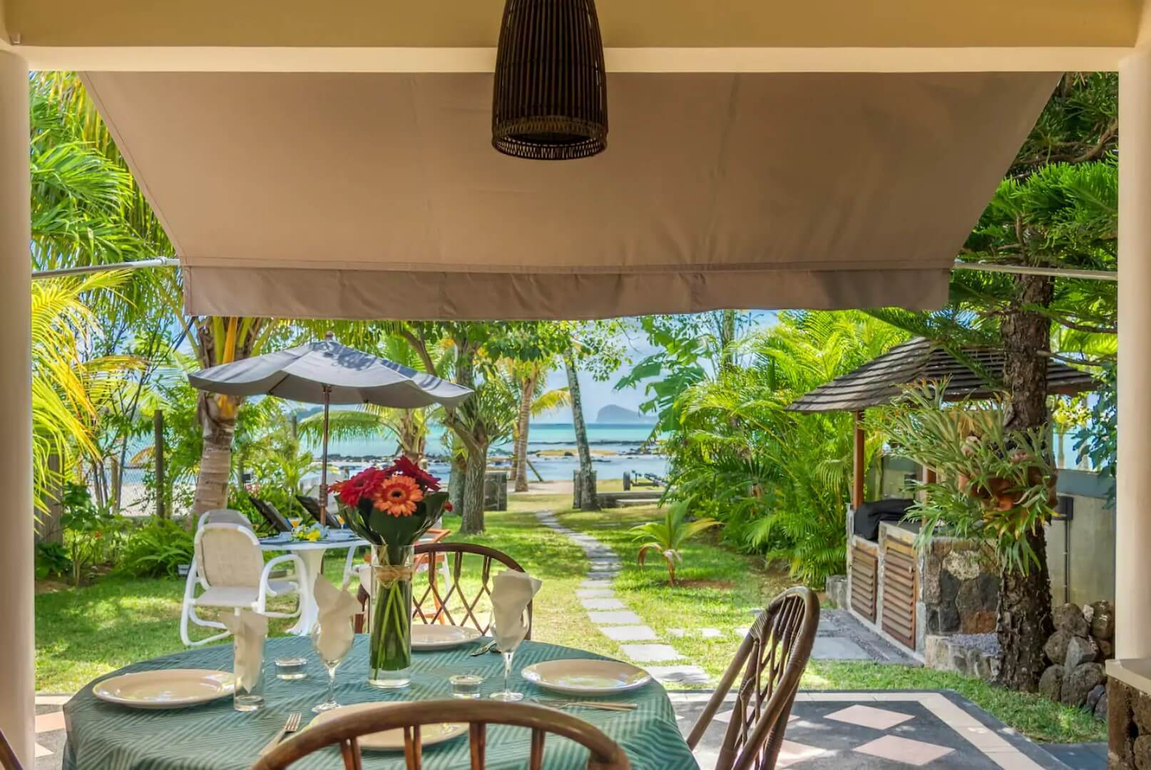 Best Beach Bungalow in Mauritius: Quaint Fishing Village Beach Bungalow in Grand Gaube