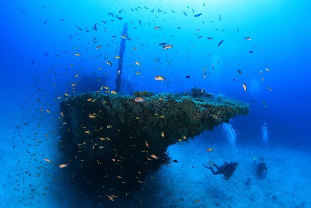 Stella Maru Wreck dive site
