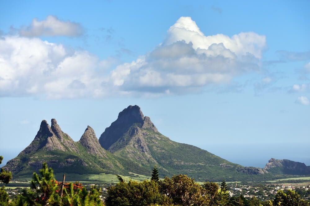 Trois Mamelle mountains in Mauritius