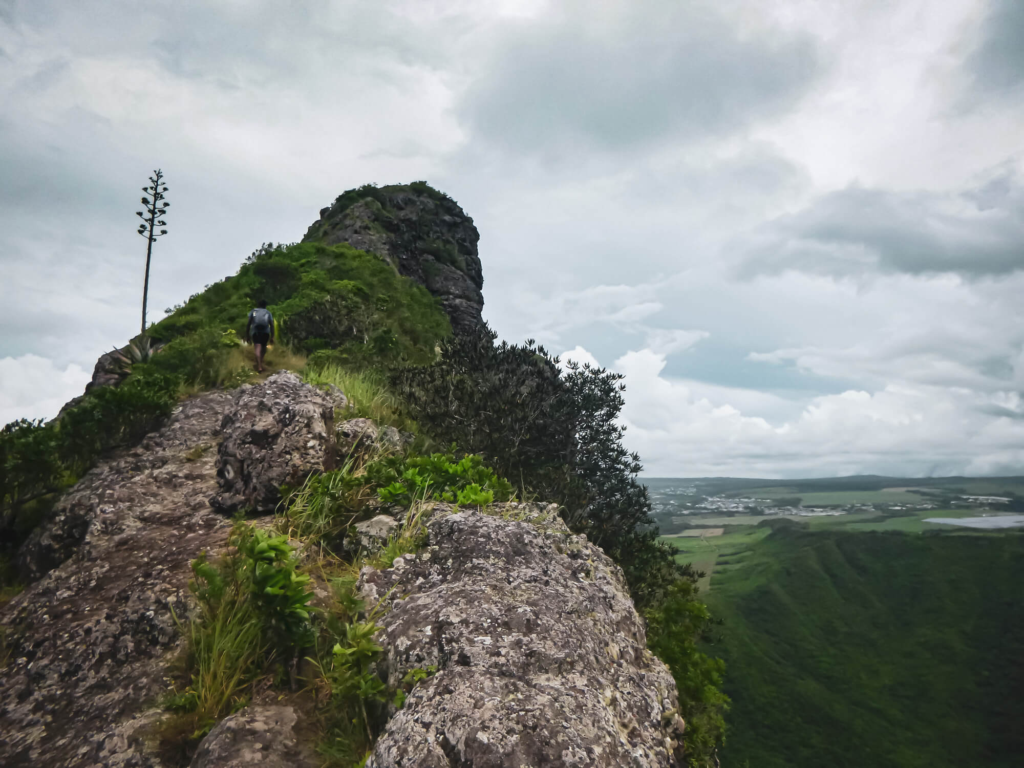 Hiking up Trois Mamelle mountain in Mauritius