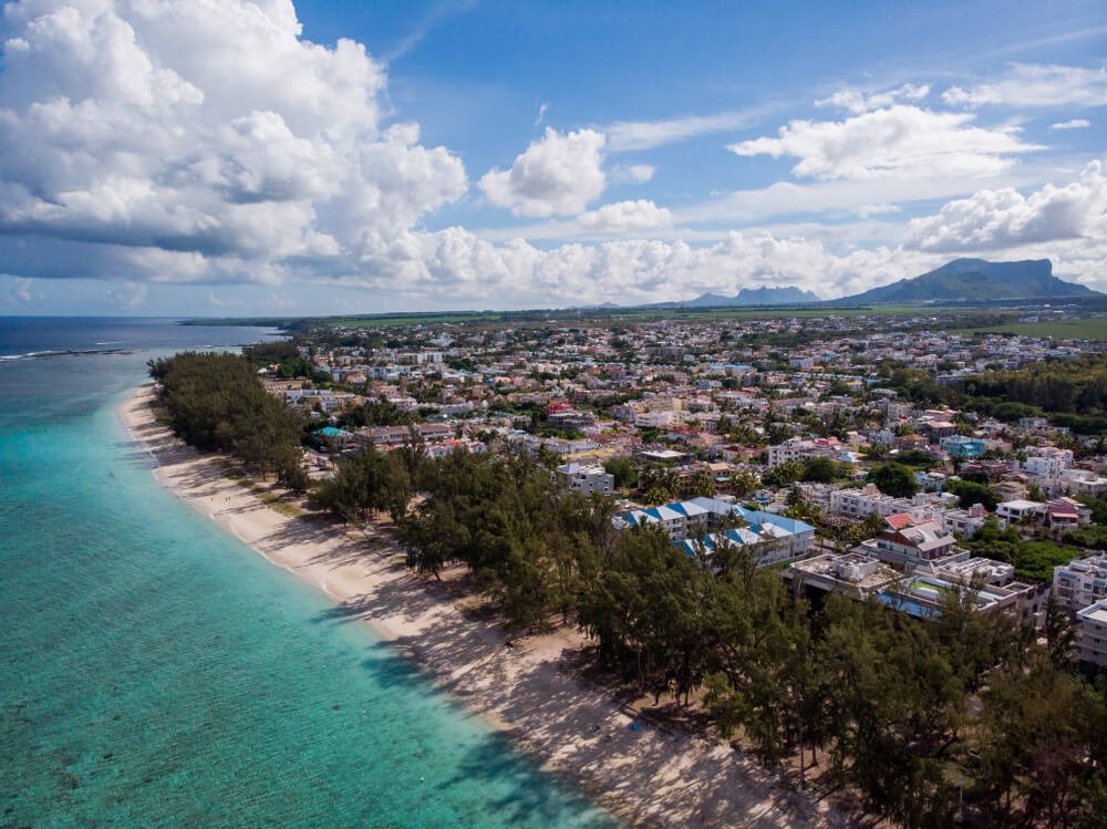 Flic en Flac developed beachfront - best diving base on Mauritius's west coast