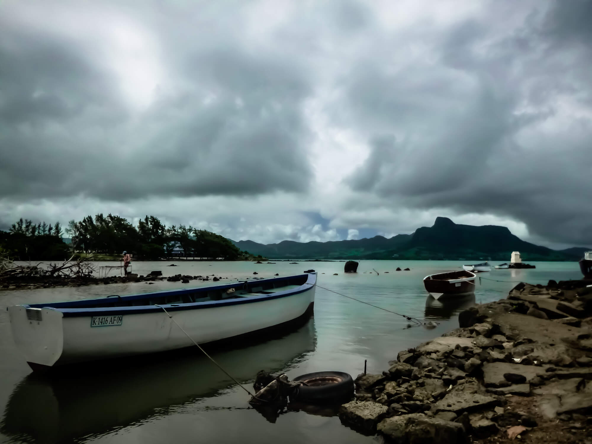 Mahebourg close to Blue Bay Marine Park on Mauritius's southeast coast