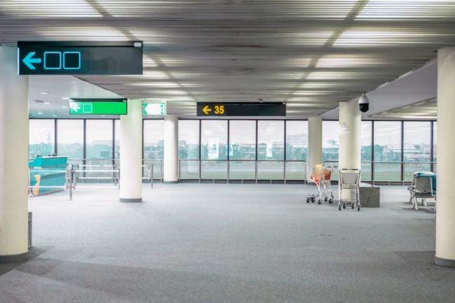 empty airport coronavirus