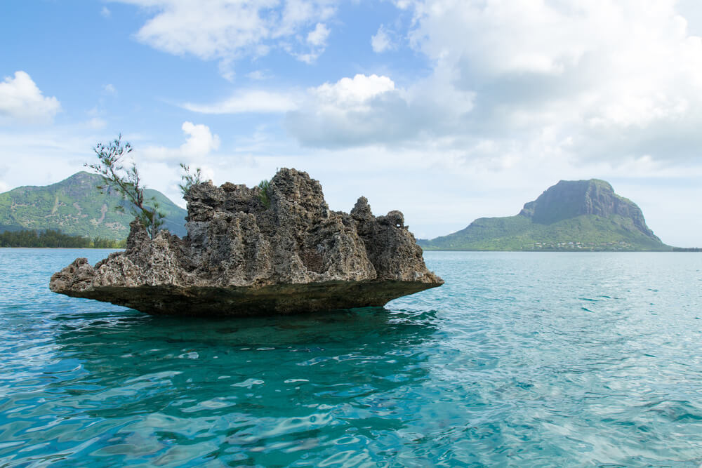 Crystal Rock at Ile aux Benitiers - a famous beautiful island of Mauritius