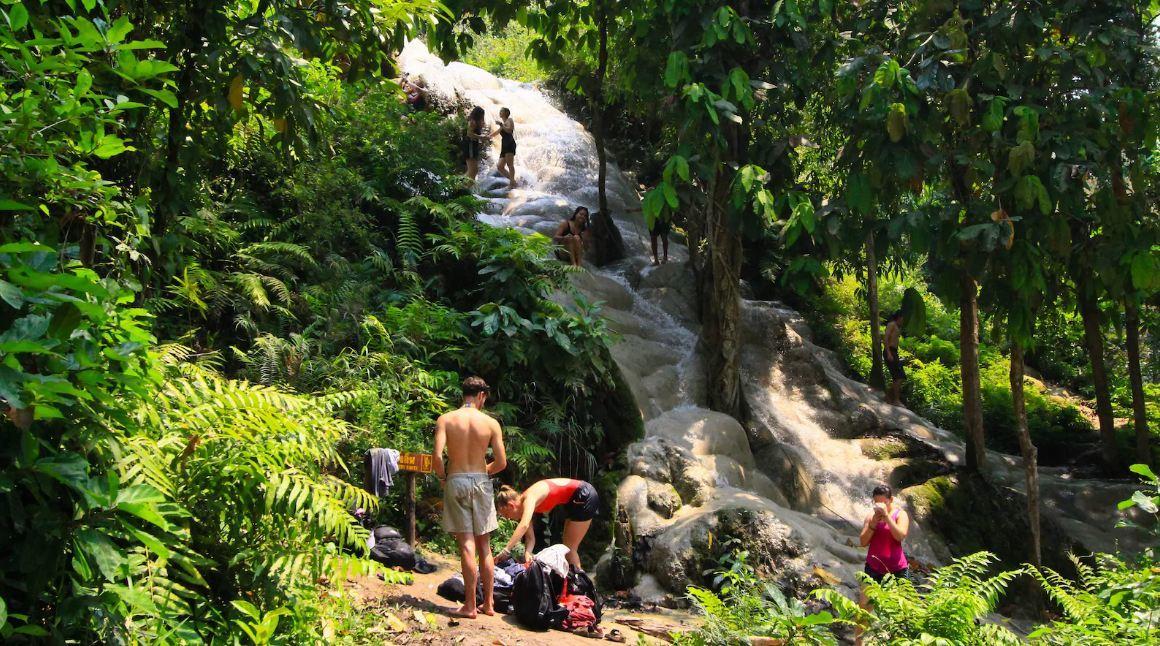 Climb the Sticky Waterfalls