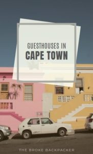 Guesthouses in Cape town PIN