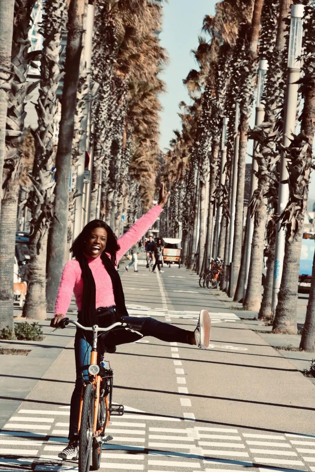 Go on a bike tour Barcelona