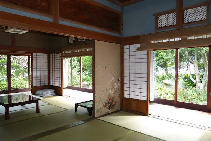 Guest room in traditional house, Japan