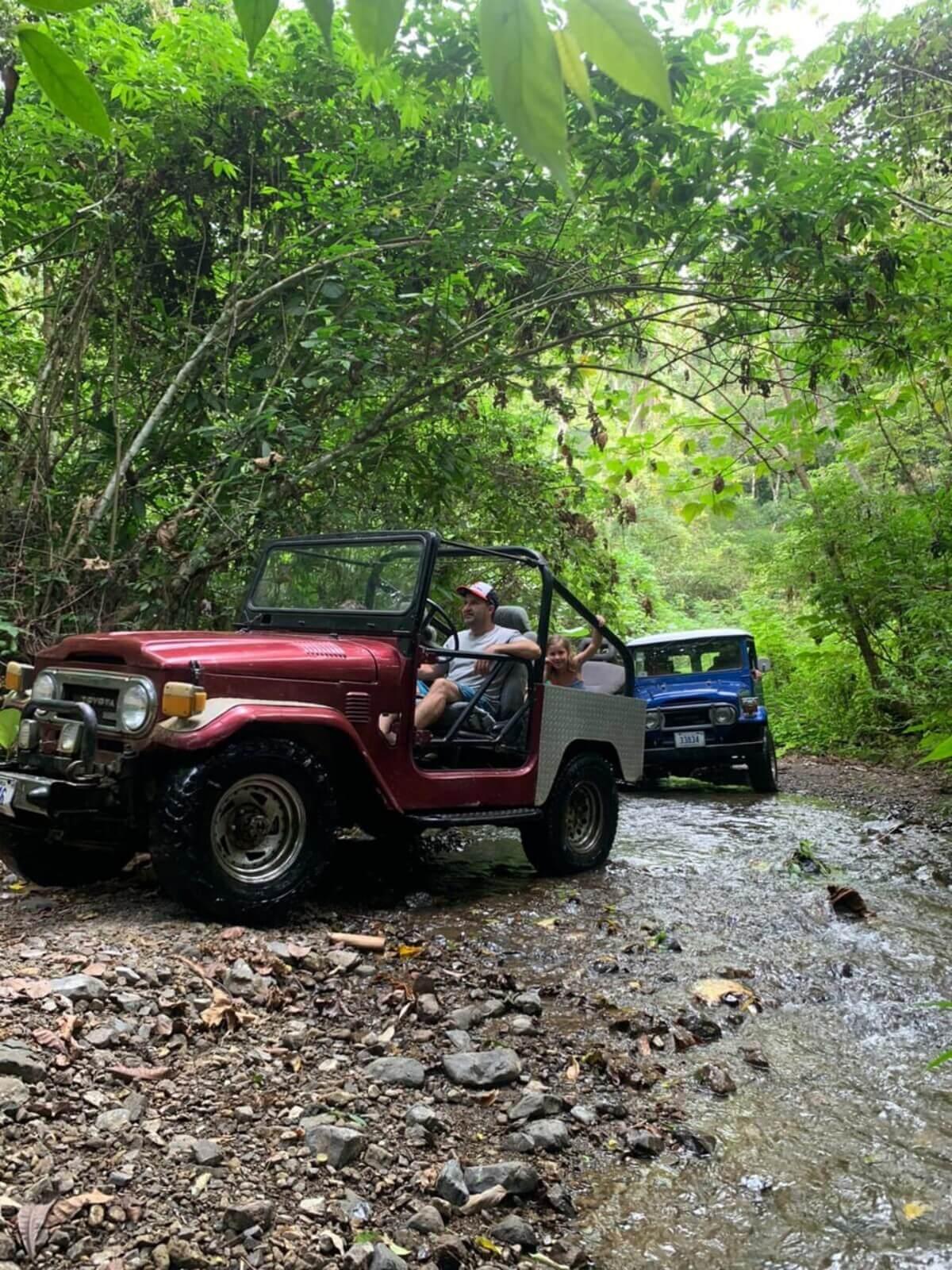 Jeep safari tour, Costa Rica