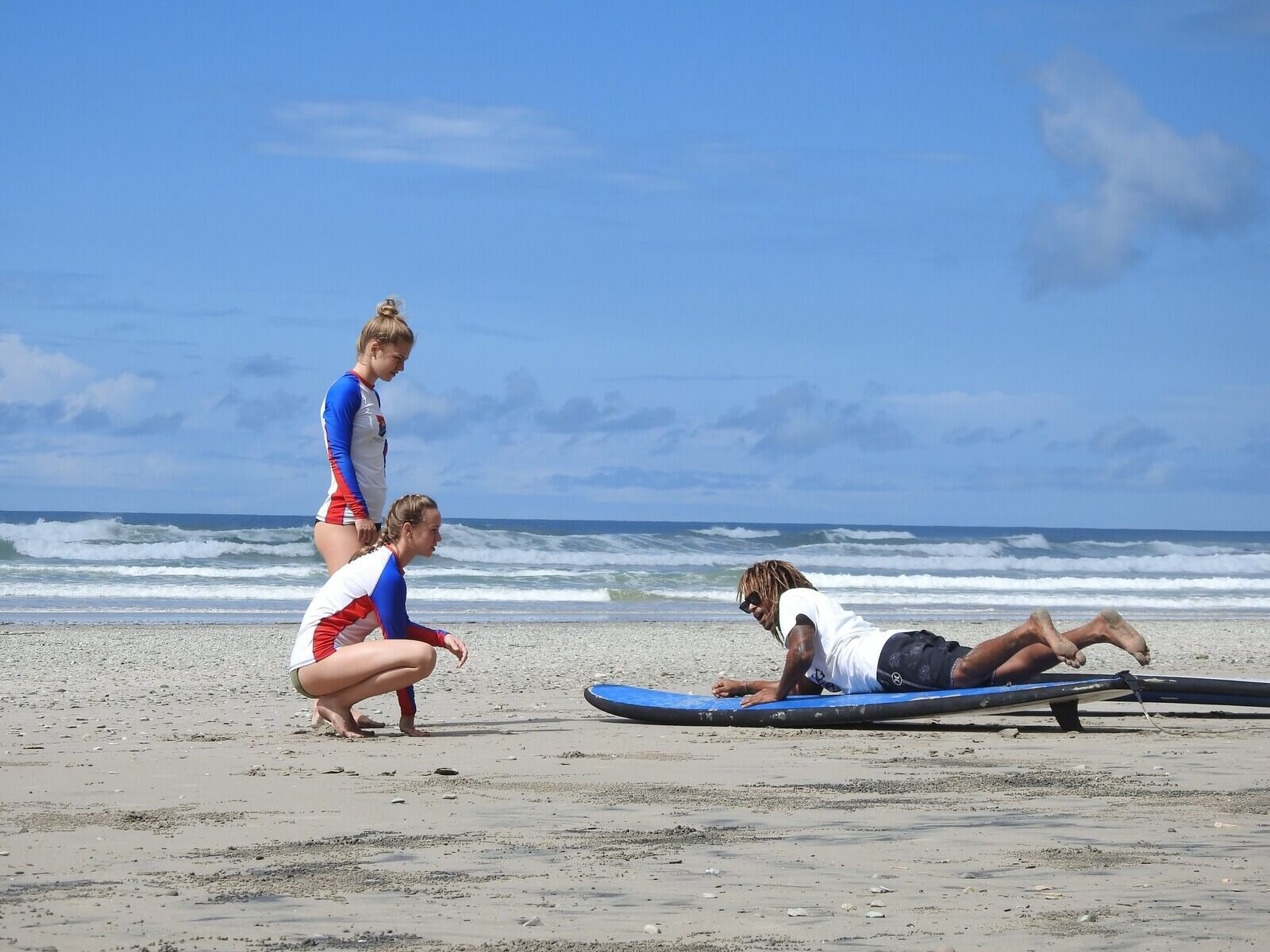 first surf lessons