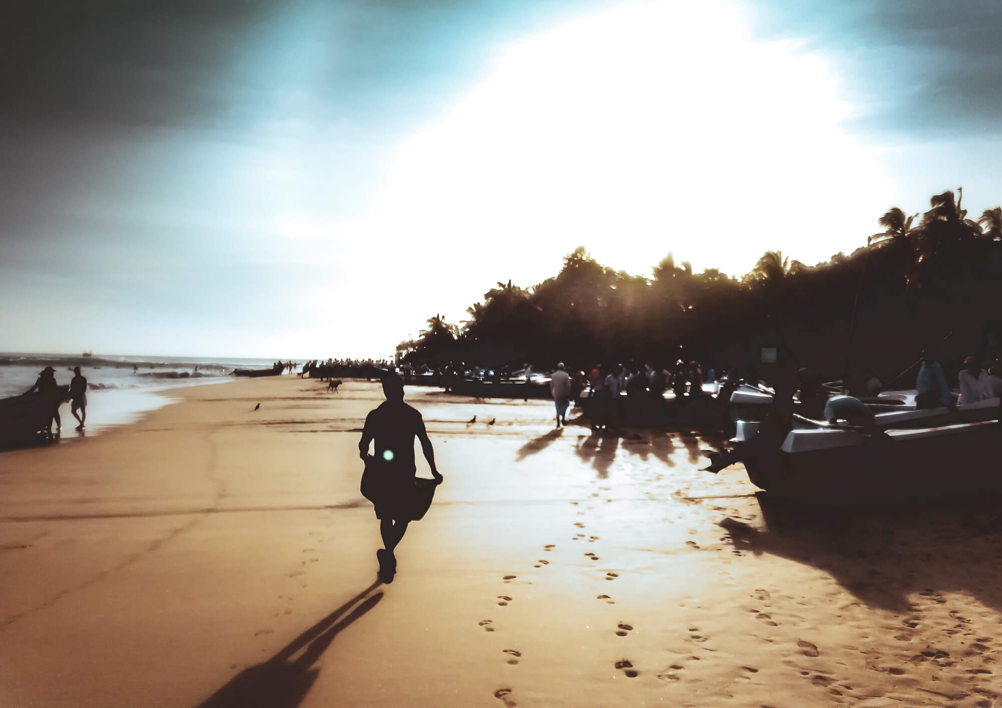 Arugam Bay Main Beach - the number one place to go for backpackers exploring Sri Lanka on an itinerary