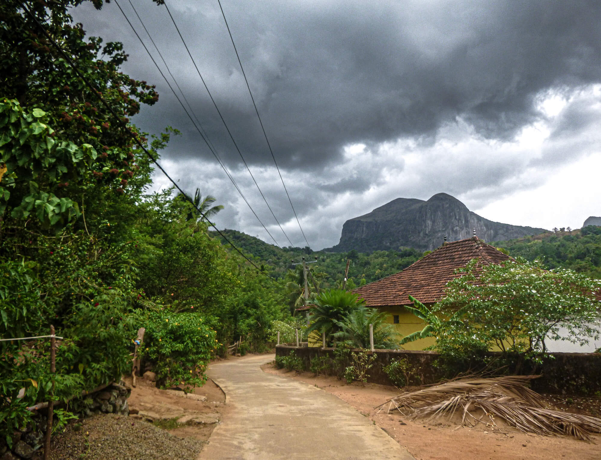 Stormy weather in Sri Lanka's Knuckles Mountain Range