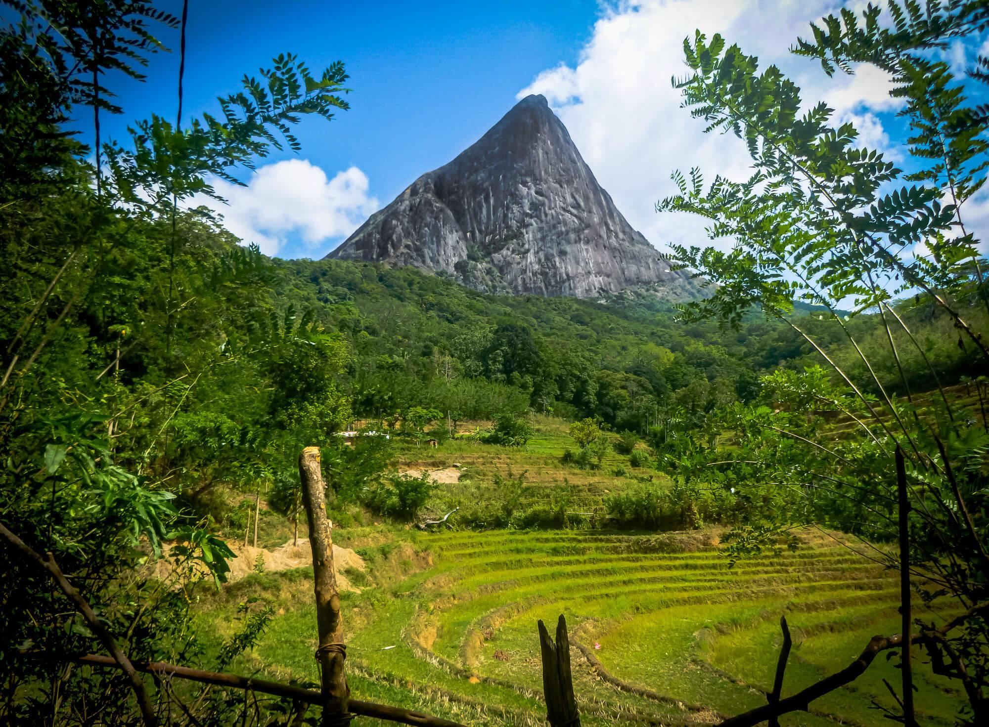 Lakegala mountain from Meemure Village - off the beaten path Sri Lanka itinerary