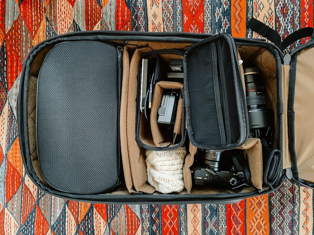 Nomatic camera bag main compartment