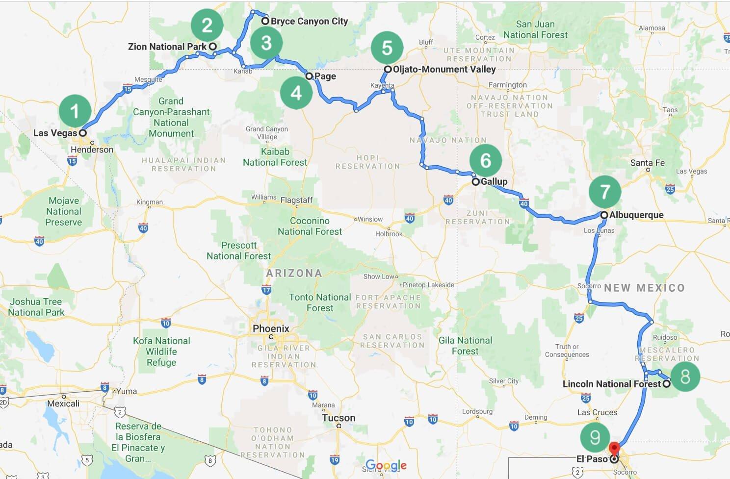 1.2 Southwest Route Stop 1