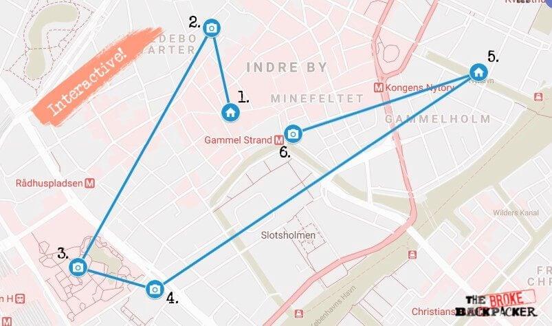 Copenhagen Day 1 Map
