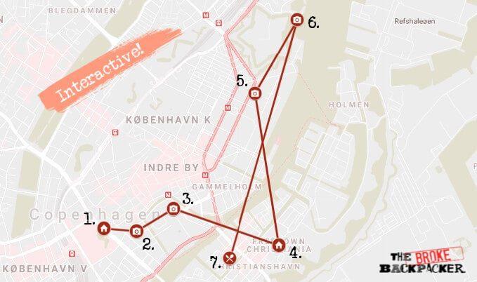Copenhagen Day 2 Map