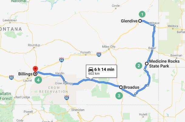 Montana Road Trip Route 1