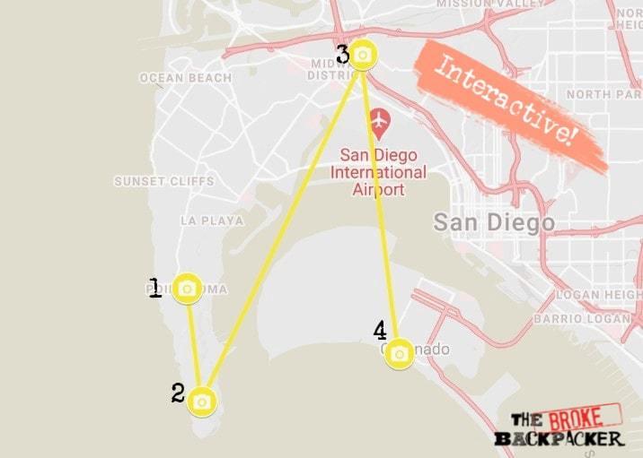 San Diego Day 2 Map