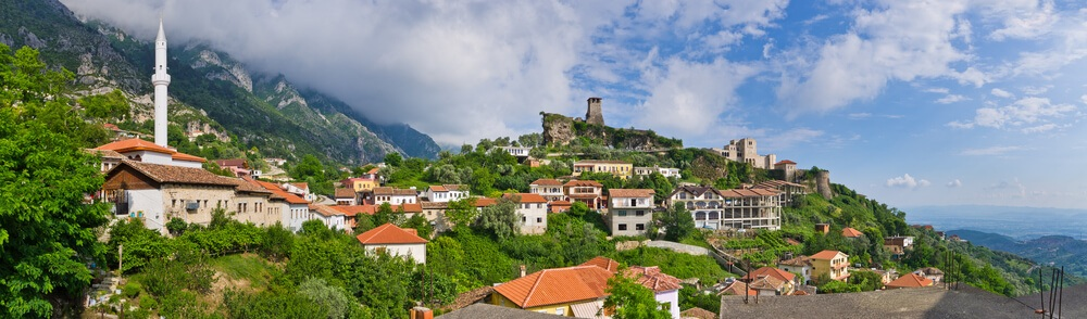 A picturesque hillside view in an Albania reopened to tourists