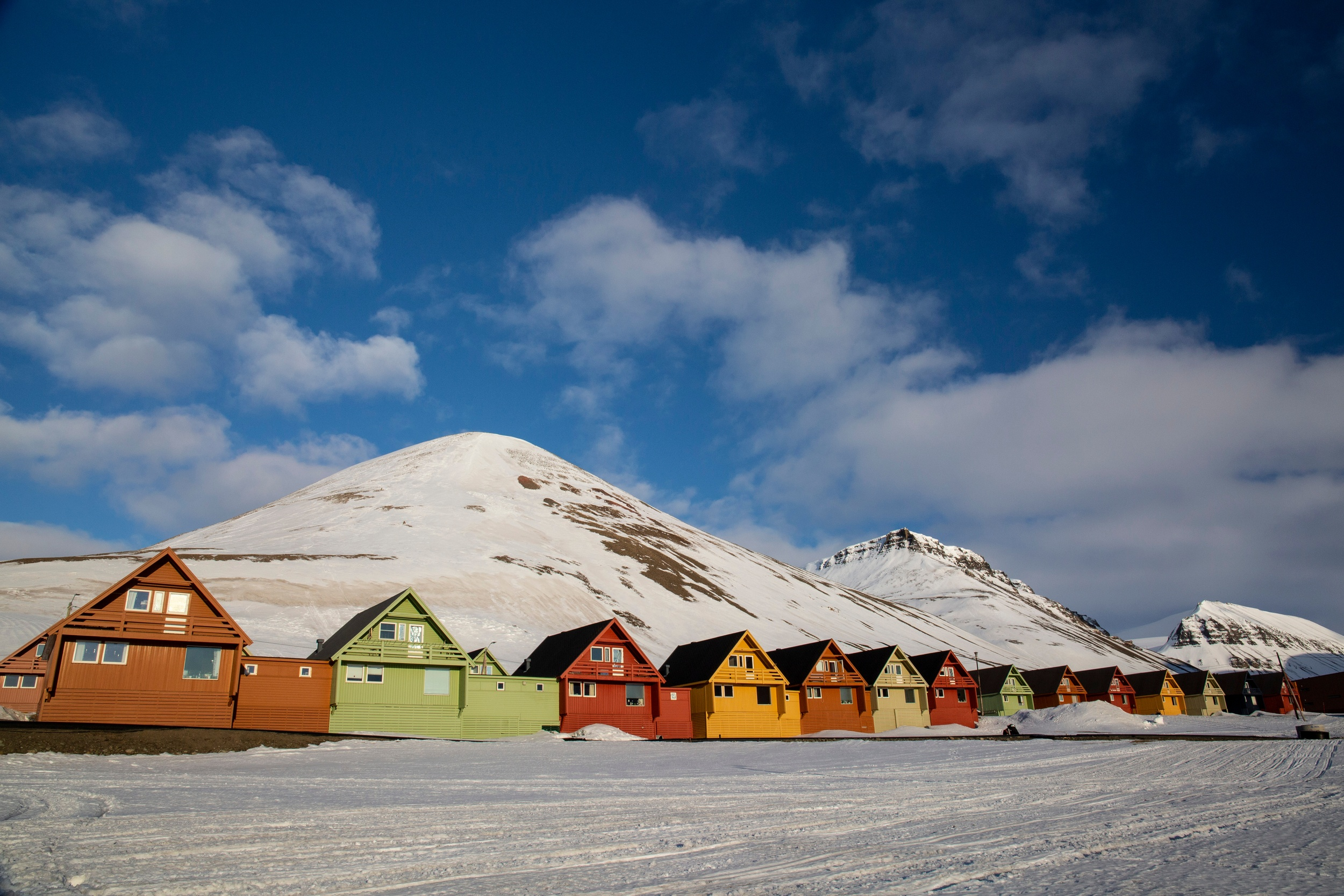 svalbard winter landscape