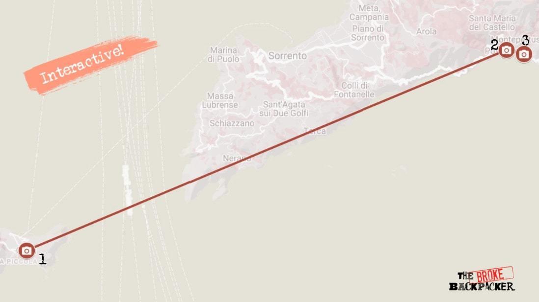 Amalfi Coast Itinerary Map Day 3