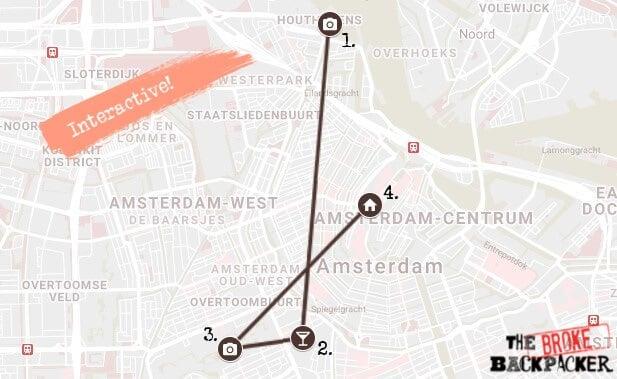 Amsterdam Day 3 Map