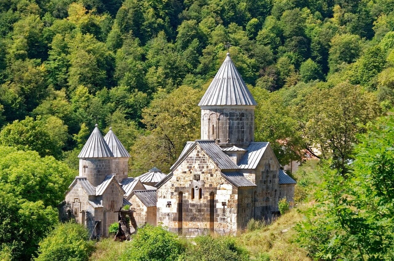 haghartsin monastery in green forest