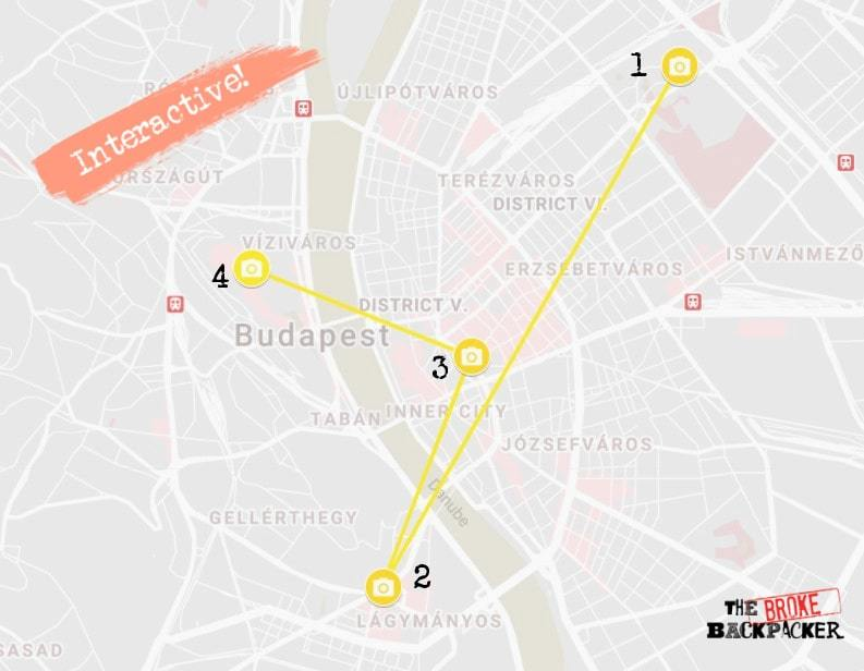 Budapest Day 3 Itinerary Map
