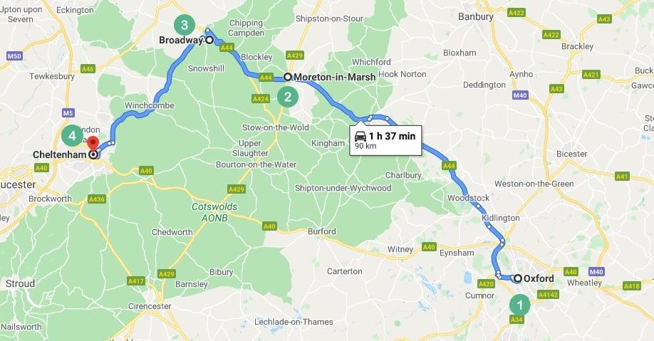 Romantic Oxford Road Trip