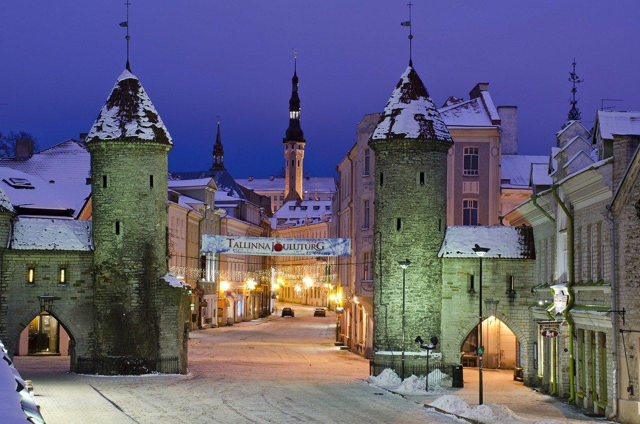 Tallinn in winter - best city in Europe for digital nomads