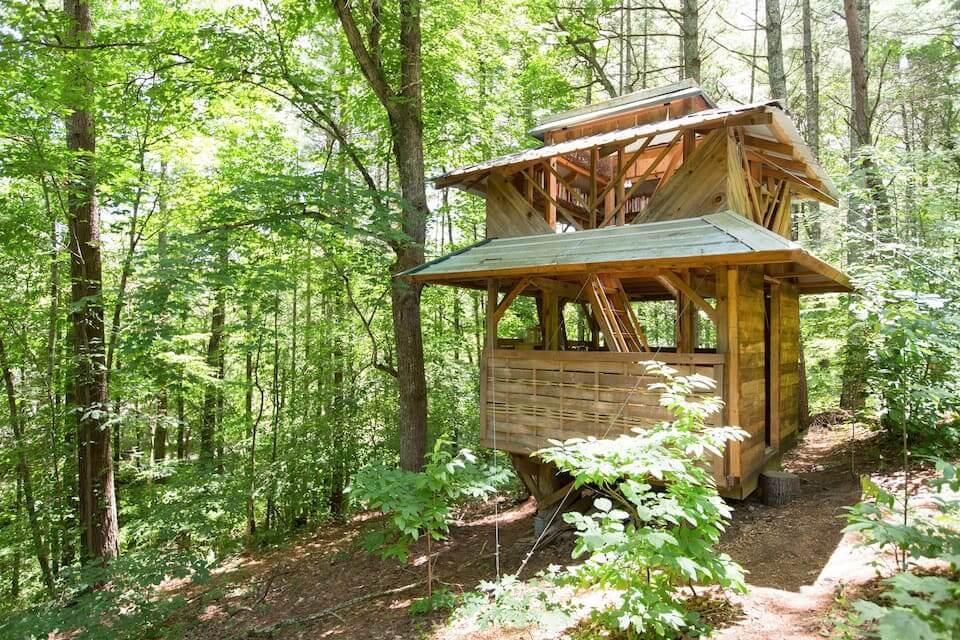 Most Unique Airbnb in Asheville Paradise Pagoda in the Trees