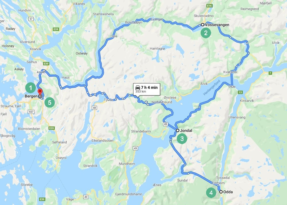 Norway Route3 Map
