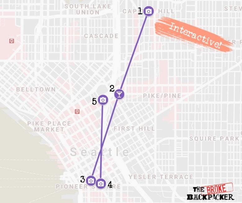 Seattle Day 2 Itinerary Map