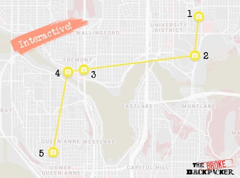 Seattle Day 3 Itinerary Map