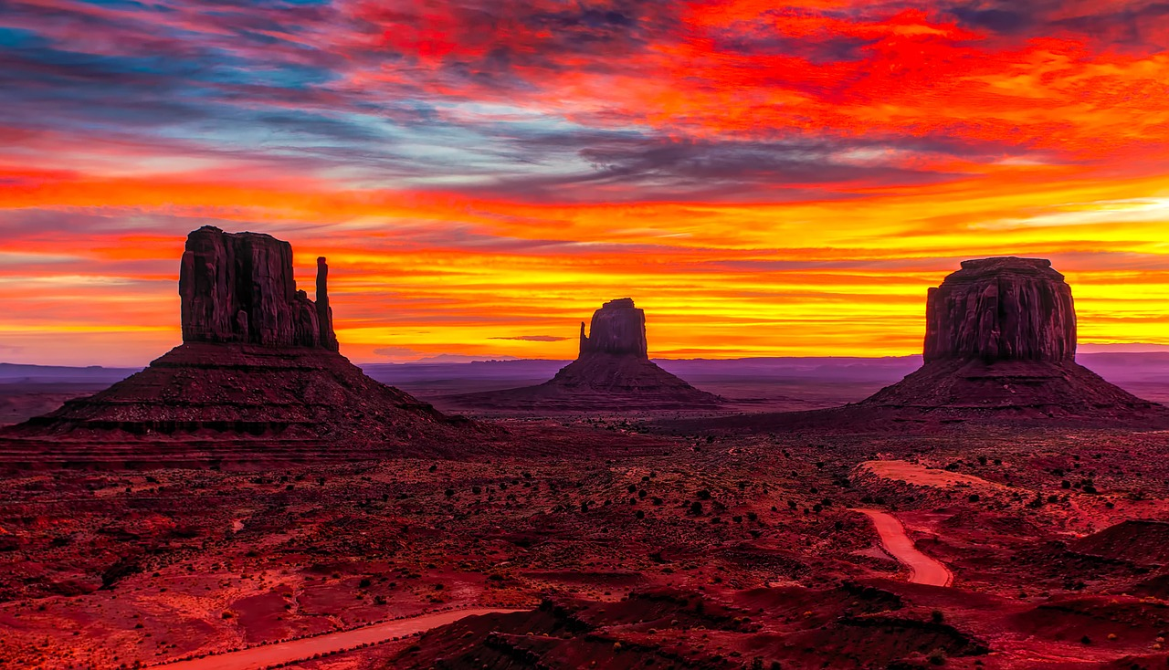 Sunset in Southwest USA - top country where Americans can travel right now