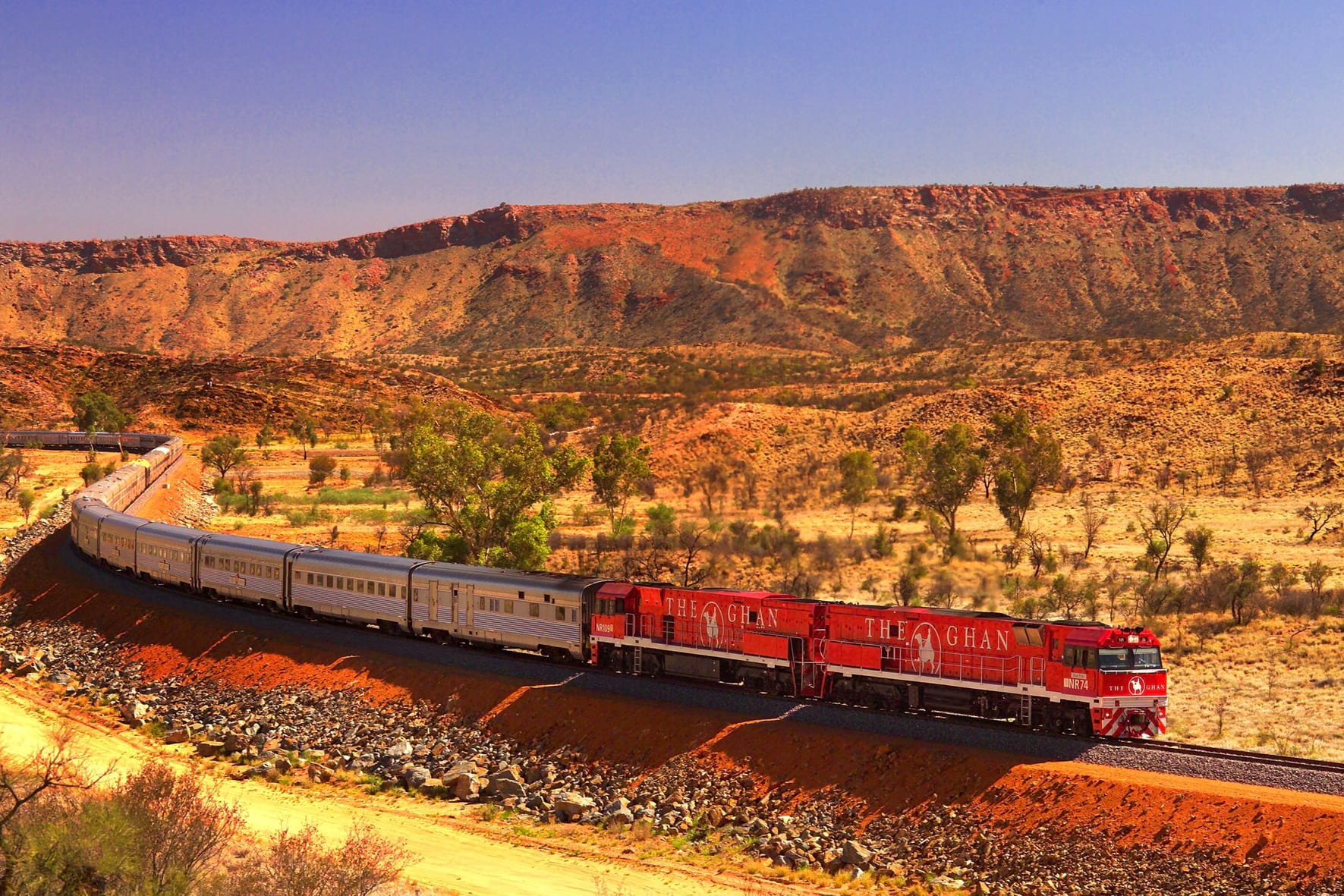 The Ghan - Australia's most beautiful train journey - in Central Australia