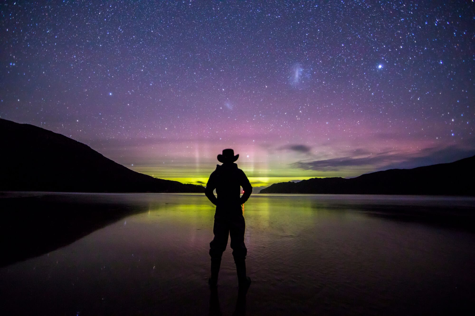 Southern Lights (Aurora Australis) as photographed from Southwest National Park, Tasmania