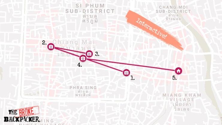Chiang Mai Day 1 Map