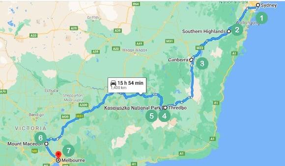 Sydney to Melbourne - The Alpine Way
