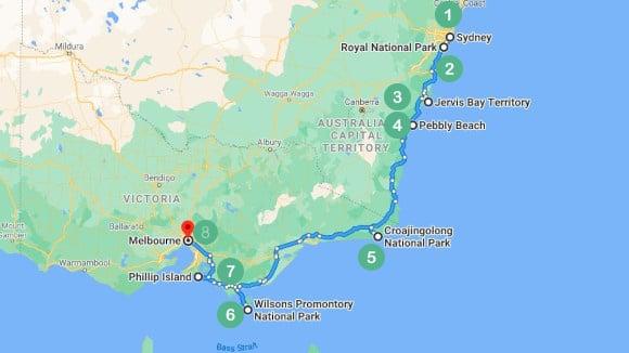 Sydney to Melbourn - The Coastal Drive