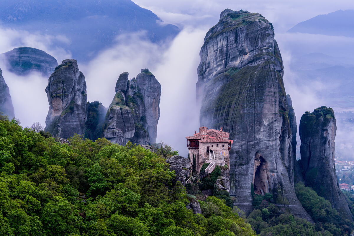 Monastery at Meteora - amazing place to visit in Greece