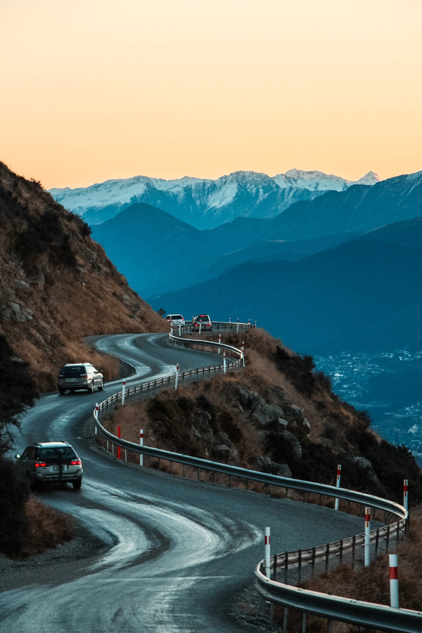 A scenic drive near Queenstown in New Zealand's South Island.